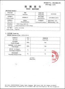 Certificado para A193 B8M CL2