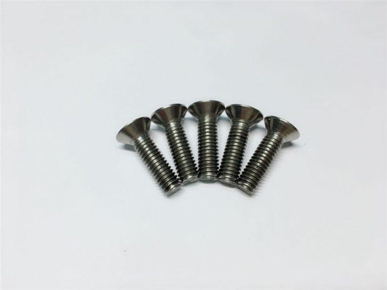 Tornillos de brida de titanio para tornillos de brida de titanio M3, parafusos de titanio M6, para cirurxía medular