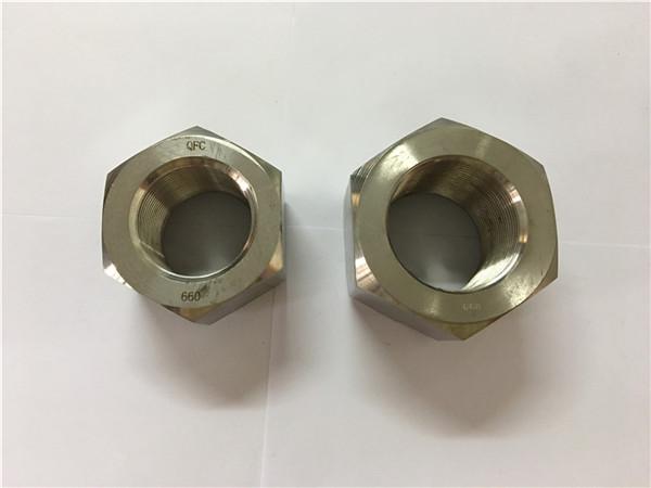 fabricación de aleación de níquel a453 660 1.4980 porcas hexagonal
