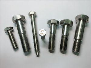 No.25-Incoloy a286 parafusos de hexagonal 1.4980 a286 sujetadores gh2132 en aceiro inoxidable ferraxes para máquinas de ferraxes