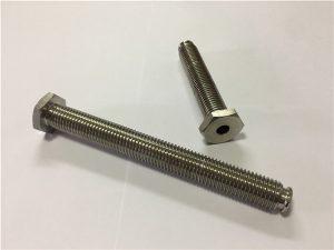 Nº 64: Fijador de titanio oco con buraco paso de liga de titanio 6Al4V, chave Allen