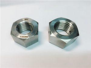 No.76 Dúplex 2205 F53 1.4410 S32750 fixadores de aceiro inoxidable porca hexagonal