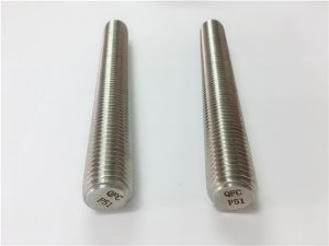 Nº77 Dúplex 2205 S32205 fixadores de aceiro inoxidable DIN975 barras roscadas DIN976 F51