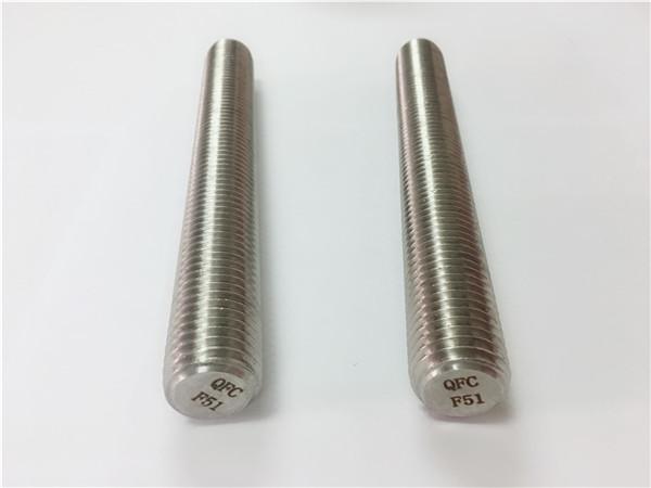 duplex2205 / s32205 fixadores de aceiro inoxidable din975 / din976 barras roscadas f51