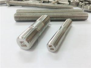 Nº80-dúplex 2205 S32205 2507 S32750 1.4410 Fijación de hardware de alta calidade de áncora de vara de rosca