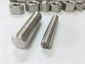 No.81-F55 Zeron100 fixadores de aceiro inoxidable cana roscada completa S32760