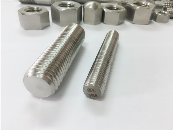 F55 / zeron100 fixadores de aceiro inoxidable cana roscada completa s32760