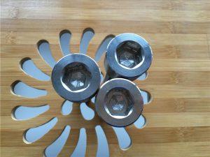 Tornillo hexagonal ASEM de alta calidade para tornillo gr2 de titanio / parafuso / porca / arandela /